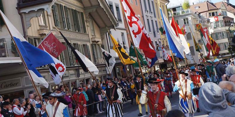 Fahnengruppe Schweiz Interlaken